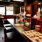 天ぷら かき揚げ 新次郎 - カウンター席