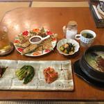 民家カフェurichip - 参鶏湯セット