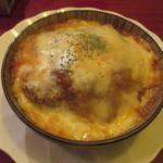 71218697 - 焼きチーズメンチカツカレー。