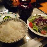 ステーキ・デボン - ☆ごはん…香の物…お味噌汁…サラダが付いています(●^o^●)☆