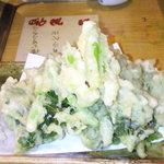 さつま富士 - 明日葉の天ぷら