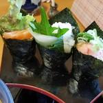 味心逆瀬川 - 手巻き寿司 3種類