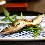 と村 - 料理写真:白神山地・赤石川の金鮎