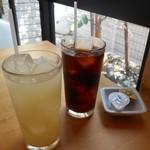TRATTORIA Mocco - グレープフルーツジュース&アイスコーヒー
