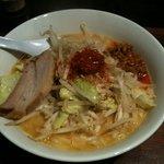 極太野菜味噌 ○助 - 【旧】 辛味噌ラーメン、スープやばし