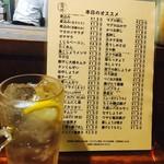 晩杯屋 - ◆酎ハイ 250円