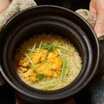 平花とんぼ - 雲丹の炊き込みご飯