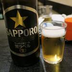 味さと - サッポロ黒ラベル(大瓶)