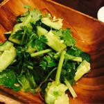 炎麻堂 - パクチーとキュウリのサラダ