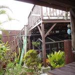 茶屋 夢蘭 - 屋内もありますが、外で風に吹かれるのが気持ちいい。