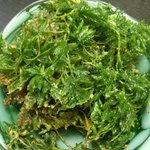 茶屋 夢蘭 - さっそく家で天ぷらに。 うん、これもなかなかでした。