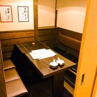完全個室でプライベール宴会もOKなテーブル席