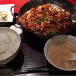 71243118 - 重慶式麻婆豆腐セット 1350円