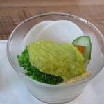 グリーンノースカフェ - 野菜サラダ アボカドソース