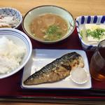 幸田町食堂 - 鯖の塩焼き無料♪