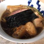 麺工 小烏丸 - 醤油ポルチーニ。900円。