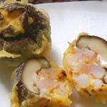 天ぷら新宿つな八 - 椎茸海老詰め