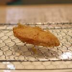 太門 - 新生姜の甘酢漬けの天ぷら