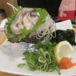 居酒屋茶々 - 岩牡蠣ポン酢(鳥取産)