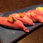 71255389 - 牛たん握り寿司 ¥1,100 (税別)