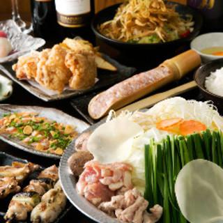 1番人気‼選べるお鍋塩ちゃんこ鍋orあご出汁明太もつ鍋コース