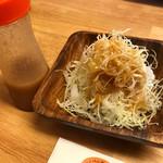 みや田 - 野菜サラダにドレッシングを・・