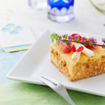 京の麩菓子屋 ゆふころろ - 四方の麩(よものふ) 焼麩のチーズケーキ
