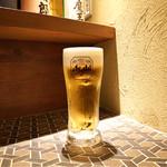 炭火焼鳥酒場だんご - ☆生ビール(中)480円