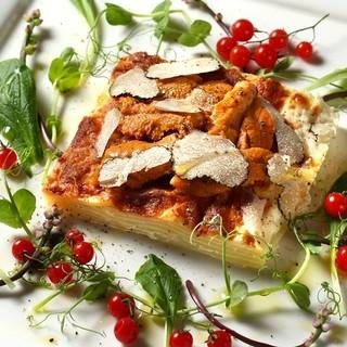 旬の食材をつかったイタリア料理