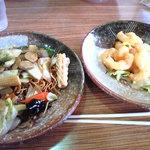 台湾料理福満楼 - バリそばとエビマヨです。