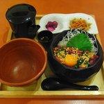 7126928 - まぐろユッケ茶漬け(950円)