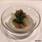 祇園 岩元 - 水無月型の聖護院大根の風呂吹き