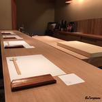 祇園 岩元 - 見晴らしの良いカウンター席