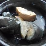 浅草むぎとろ - 茄子の煮浸しと鯖の焼き物