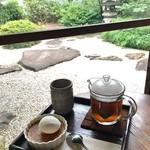 蘇山荘 - ほうじ茶のクレームブリュレ&生姜玄米茶
