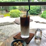 蘇山荘 - アイスカフェオレ&豆菓子