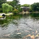 蘇山荘 - 龍仙湖にかかる西湖堤と観仙楼