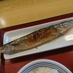 町田木曽食堂 - サンマのアップ