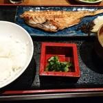 ルート49 - 炭火焼 魚定食(赤魚)850円(税込)