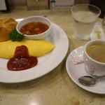 71267149 - 朝食セット580円+コーヒー150円