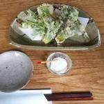 蕎麦と雑穀料理 杜々 - 山菜天盛合せ