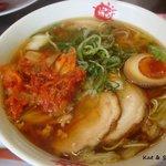 ラーメン まこと屋  - キムチ鶏醤+2番麺