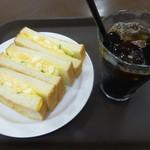 ホリーズカフェ - 料理写真:トーストサンドセット(アイスコーヒー)