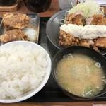 からやま - 料理写真:【2017.7.11】チキン南蛮定食¥590+極ダレ¥130