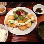 お酒とごはん ふぅふぅ - ランチの鶏南蛮定食900円