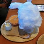 珈茶話 - 生メロンのかき氷(本日のおすすめかき氷)