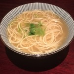 たのしや - 塩おでんの〆は半田麺