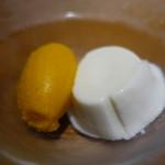 ル モンド グルマン - ココナッツのブラマンジェとマンゴーのソルベ
