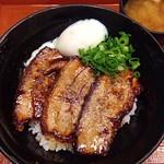ぶたたま食堂 - 豚蒲丼 温玉添え