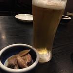 庄司 - ビール&お通し
